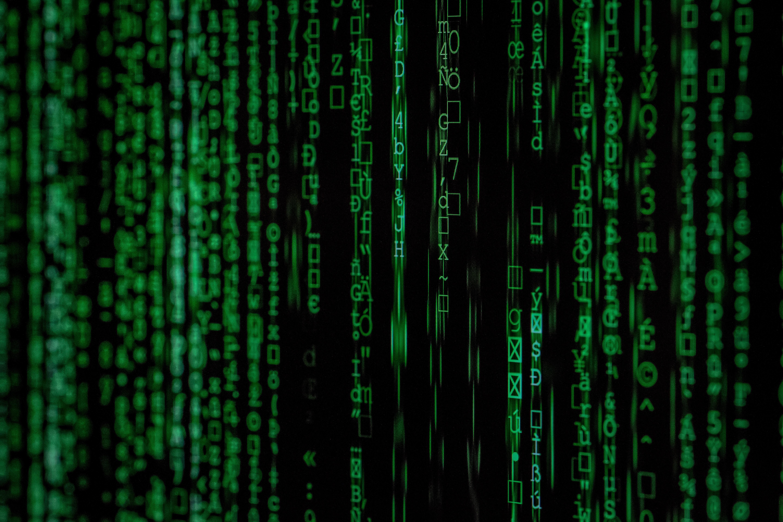 verticla data flow on a green screen