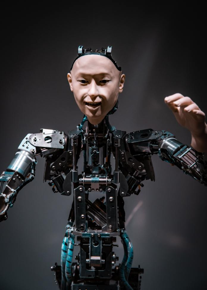 image of a robot skeleton with a face