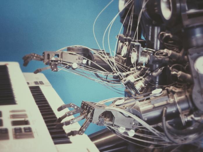 robot playing piano AI robotics