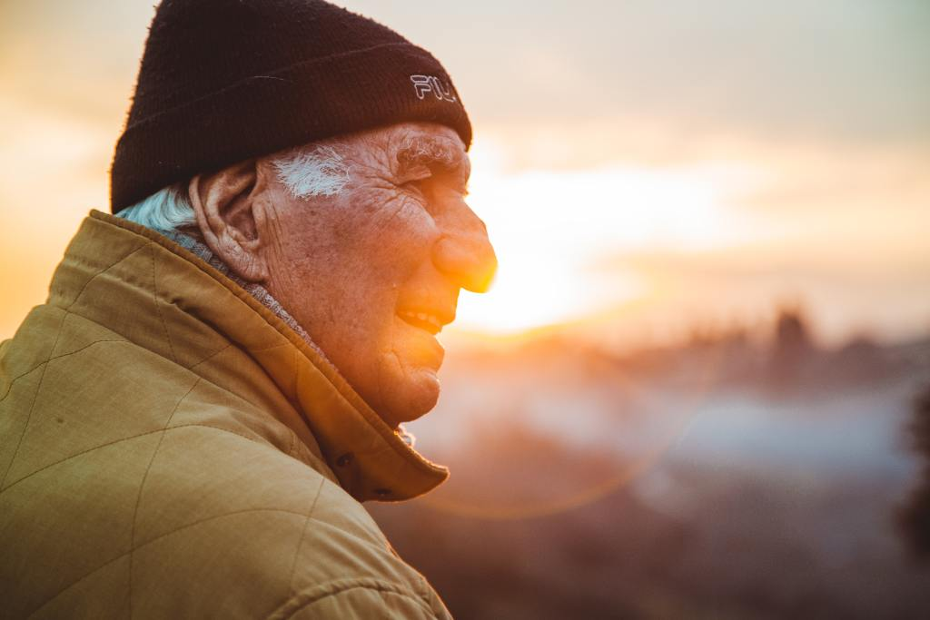 Older people are feeling less anxiety and stress. They also are reporting feelings of calmness