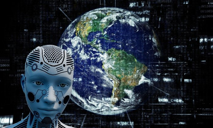 network tigers technology trends planet earth and a robot